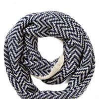 ModCloth Ideal Mornings Circle Scarf in Navy