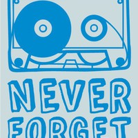 Never Forget Cassettes  Pop Art Print by TypePosters on Etsy
