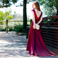 Scarlet Red Silk Gown
