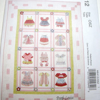 New McCalls pattern Quilt Pearl Louise Design Adorable dress quilt yo yo pattern uncut