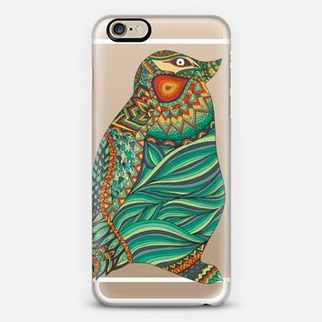 Ethnic Penguin Wood iPhone 6 case by Pom Graphic Design | Casetify