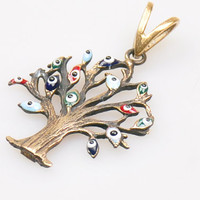 1 Piece Tree of Life Pendant with Evileyes, Life Tree Pendant, Jewelry Findings, Bohemian Jewelry