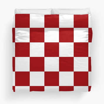 Red And White Checkered Print