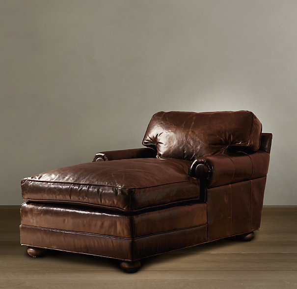 Lancaster Leather Chaise