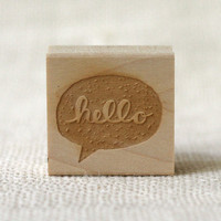 Rubber Stamp - Hello Speech Bubble