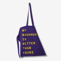 MY BAUHAUS IS BETTER THAN YOURS Stoffbeutel (purple) | selekkt.com