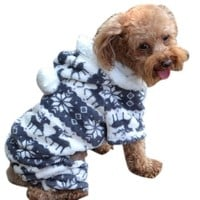 Bessky(TM) Doggy Apparel,New Stylish Pet Dog Warm Clothes Puppy Jumpsuit Hoodie Coat (M, Blue)