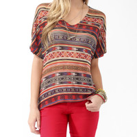Abstract Knit Top