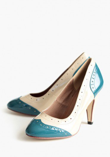 march heels in teal by Chelsea Crew at ShopRuche.com