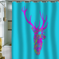 DENY Designs Home Accessories | Robert Farkas Party Deer Shower Curtain