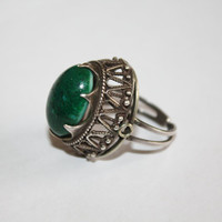 Art Deco Sterling Swedish Ring Hallmarked High Profile Chunky Renaissance