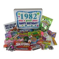 `80s Retro Candy Decade Birthday Gift Box - Nostalgic Candy: 1982