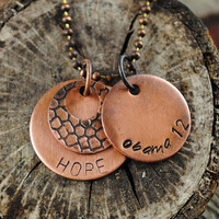 Obama 2012 Necklace with Hope Design Pendant in Copper