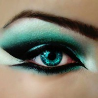 make up and hair / Teal.  #makeup