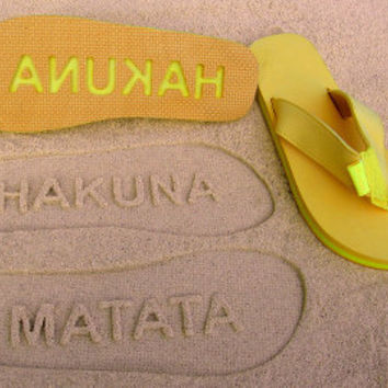 Hakuna Matata Double Layer Flip Flops by Flipside