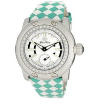 Glam Rock Women&#x27;s GRD4003CT Palm Beach Diamond Accented White and Turquoise Braided Leather Watch - designer shoes, handbags, jewelry, watches, and fashion accessories | endless.com