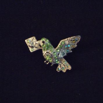 Stunning Dove Carrying A Message Brooch