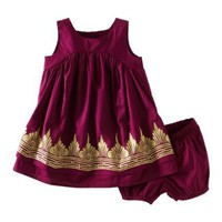 Tea Collection Baby-girls Infant Golden Temple Dress, Loganberry, Small