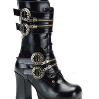 Black Lace Up Steampunk Boots and wide range of Unique Ankle Platform Boots at ElectriqueBoutique.com