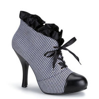Houndstooth Ruffle Ankle Booties and wide range of Unique Ankle Platform Boots at ElectriqueBoutique.com