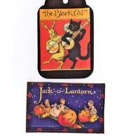 2 large Halloween tags