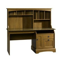 Computer Desk with Hutch - Autumn Maple