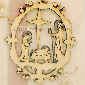 Unique Nativity Christmas Ornament, Nativity Ornament, Nativity Christmas Décor, Nativity Holiday Décor