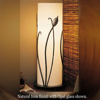 Forged Leaves with Glass Table Lamp by Hubbardton Forge hub-26-6792 266792