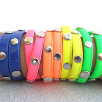 Double wrap neon bracelets, neon bracelet, neon jewelry, neon accessories,