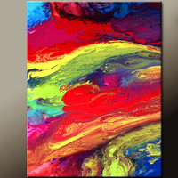 Original Abstract Canvas Art 18x24 Contemporary Modern Wall Art Painting by Destiny Womack - dWo - Chasing Stars