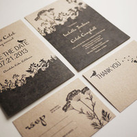 Nature - Wedding Invitation Set (PR.. on Luulla