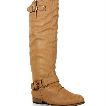 Sand Buckle Boots
