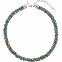 Faceted Bead Collar - Blue