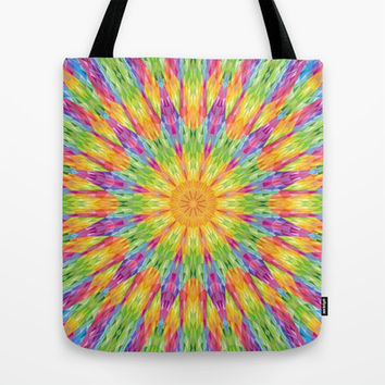 Colorful Rainbow Crystals Tote Bag by 2sweet4words Designs