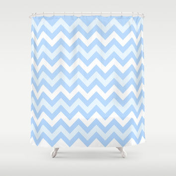 chevron #7 Shower Curtain by Ornaart