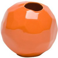 Global Views Bud Vase, Orange Nugget