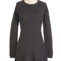 ModCloth Rustic Short Length Long Sleeve Sweater Dress Too Cozy to Call Dress
