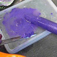  about crazy hair and how you can get colored chalk and soak the chalk in 