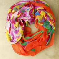 Artists Rainbow Palette Scarf [2471] - $21.00 : Vintage Inspired Clothing & Affordable Summer Dresses, deloom | Modern. Vintage. Crafted.