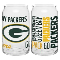 Green Bay Packers 2-piece Can Glass Set