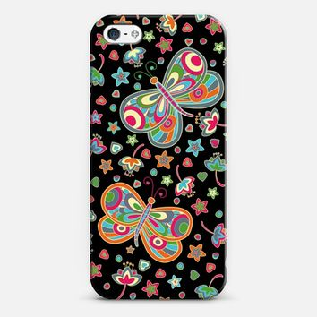 Butterflies at night iPhone 5 case by Julia Grifol designs. Surface pattern designer. | Casetify