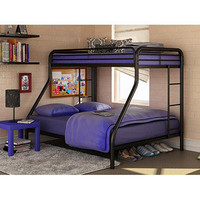 Walmart: Dorel Twin-Over-Full Metal Bunk Bed, Black