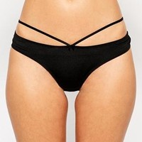 New Look | New Look Strapped Detail Brazilian Thong at ASOS