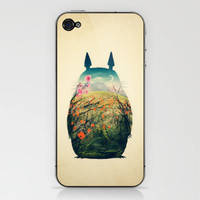 Tonari no Totoro iPhone &amp; iPod Skin by Victor Vercesi | Society6