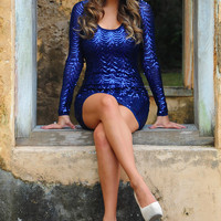Ring In The New Year Dress: Navy