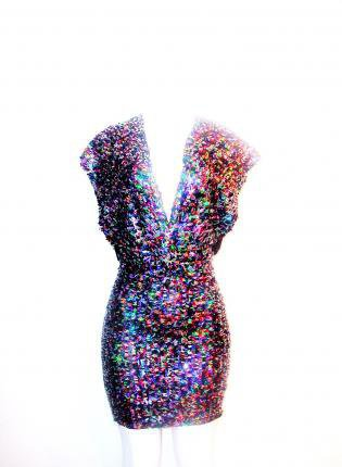 Technicolor Two Strap Dress