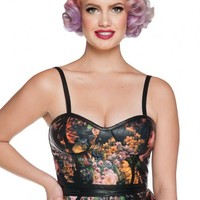 Rebellious Romance Bustier Top in Floral