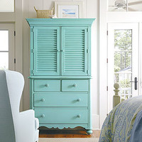 Coastal Living Seaside Media Center in Choice of Color - Armoires &amp; Media - Accent Furniture - Furniture - PoshLiving
