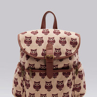 Bershka Mexico - Owl print backpack