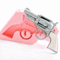 Pistol Silicone Mold - Old west gun mold - Six shooter mold - Fondant Mold - Sugarcraft Mold - Candy Mold - Chocolate Mold